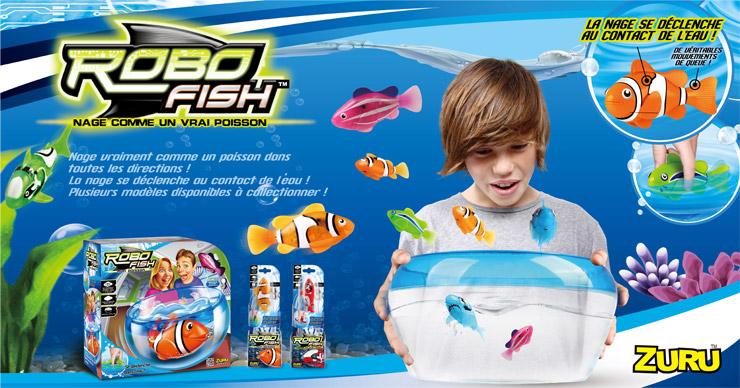 Robo fish zuru un aquarium avec des poissons jouets robots for Jouet aquarium poisson