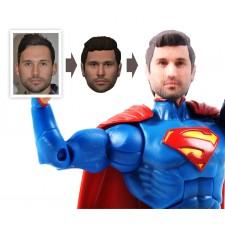 Une figurine de Superman avec votre visage, le cadeau personnalisé par excellence