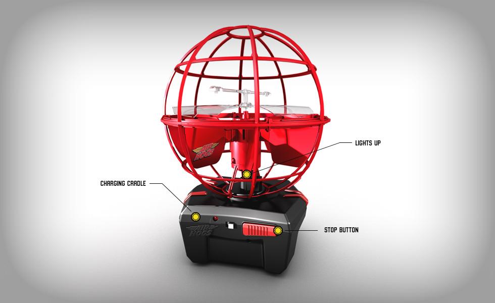 Atmosphère Air Hogs, le jouet sphère volante contrôlée par la main