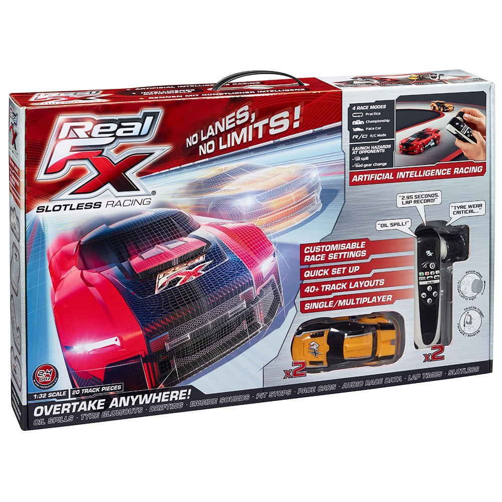 Real FX racing system, un circuit vidéo de course de voitures au sol