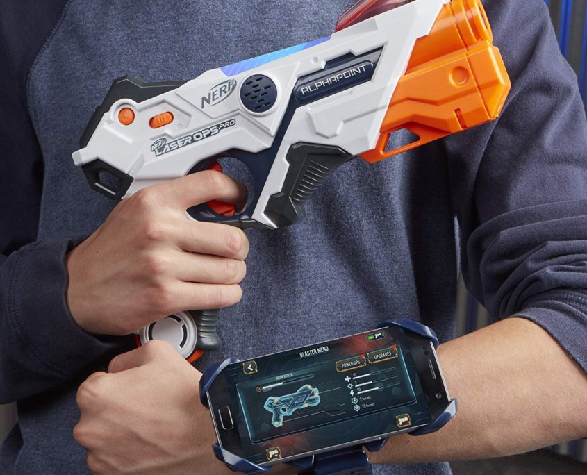 Nerf Laser Ops Alphapoint laser game nerf hasbro avec smartphone