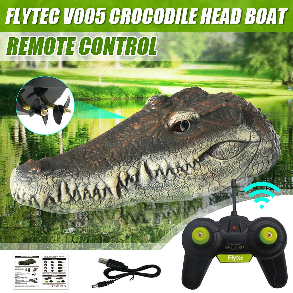 La tête de crocodile télécommandée ! Peur assurée !
